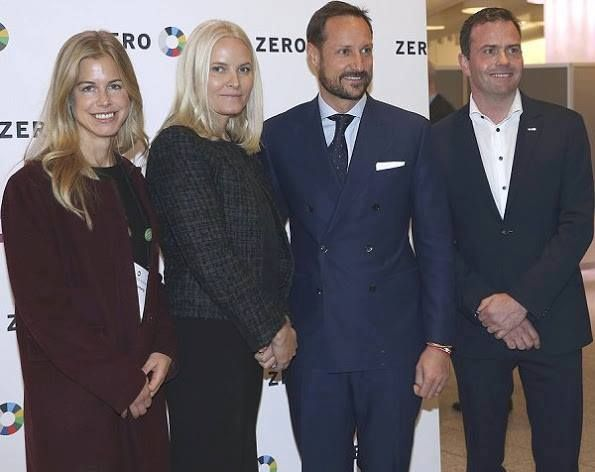 Crown Prince Haakon and Crown Princess Mette-Marit attended the Zero Conference 2016 at Oslo Congress Centre