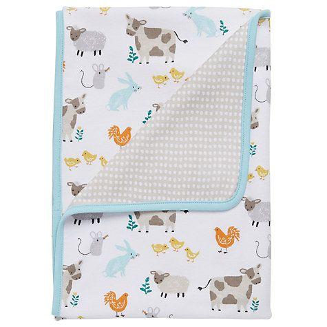 Buy John Lewis Baby Farmyard Blanket Online at johnlewis.com