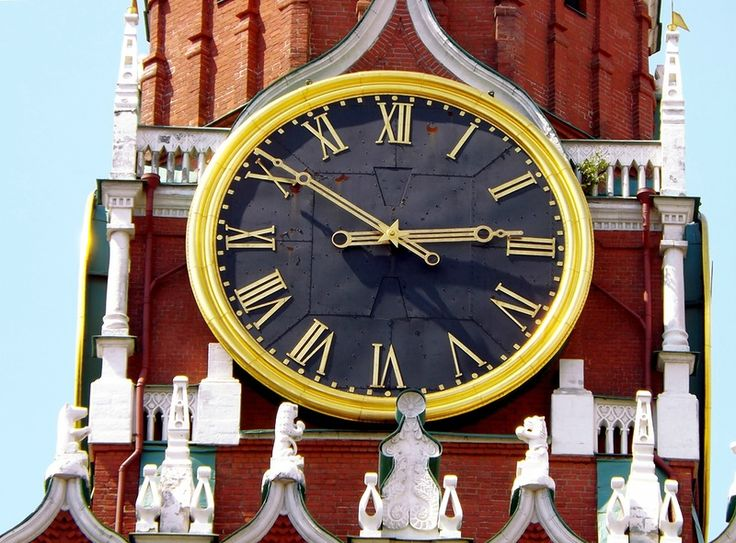 The main clock of the Kremlin in Moscow.
