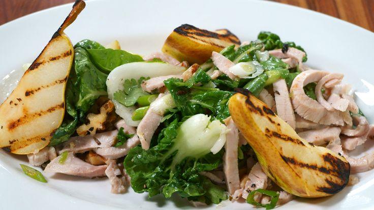 Salade de porc à la poire grillée