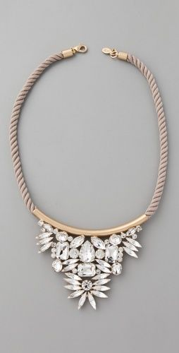 noir crystal necklace $225