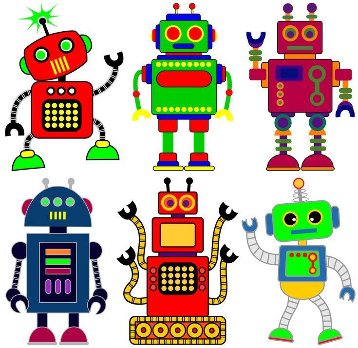 Classroom Treasures: Robot Clipart