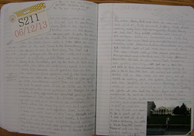 My 8th grader--M.H.--one was of our nine kids who won at the state level of National History Day, and she competed in Washington, D.C.  I told all those kids I expected amazing summer notebooks of D.C.  This student didn't disappoint.  Read about my writer's notebook program here:  http://corbettharrison.com/Summer-Expectations.htm