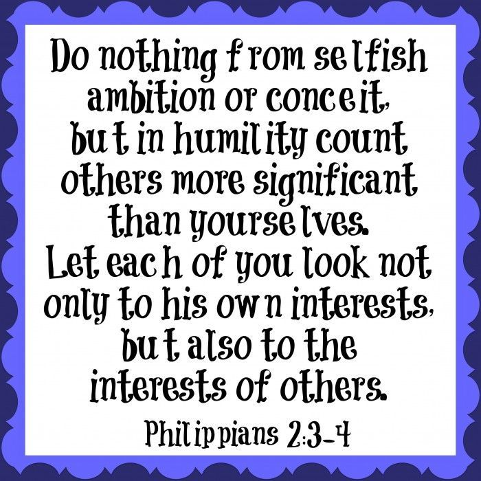 """""""Do nothing from selfish ambition""""-- Our #Scripture of the Year"""