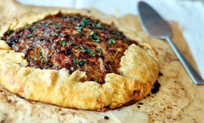 Rustic Potato and Caramelized Onion Tart: I love anything with caramelized onions in it. End of story.