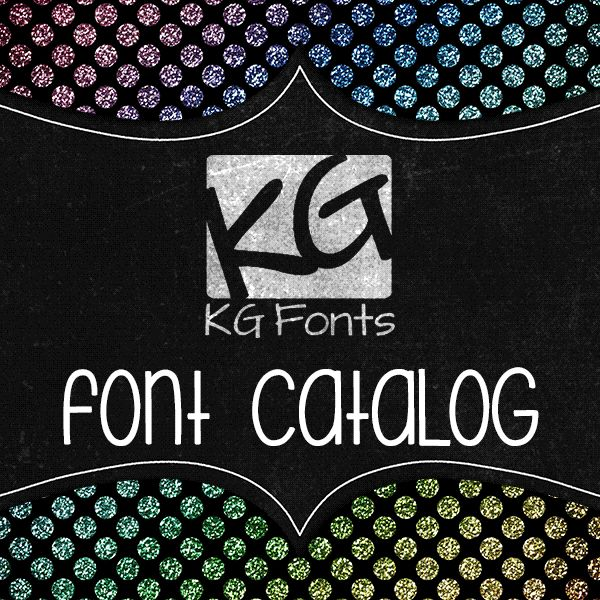 KG Font Catalog PDF - this site has the best fonts ever...will be using a few in project life folder