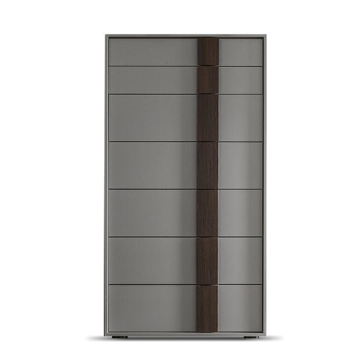 Fully assembled modern design tallboy, 7 drawers, L 61.3 - D 40 - H 11 at My Italian Living Ltd