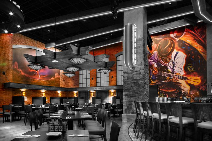 Best mural styles restaurant and bar images on