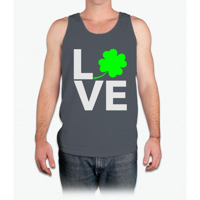 Love Shamrock - Country Closet Women's T-Shirts - Mens Tank Top