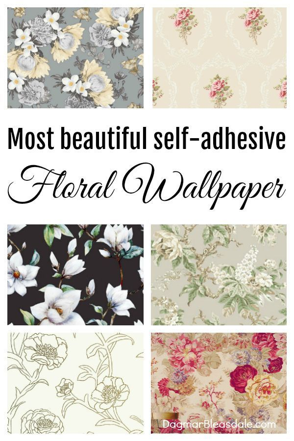 Update A Room With Peel Stick Wallpaper Perfect For Accent Walls Dagmarbleasdale Com Wallpaper F Floral Wallpaper Shabby Chic Decor Shabby Chic Interiors