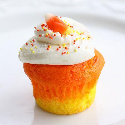 Candy Corn Cupcakes. Sounds yummy!White Cake, Food Colors, Corn Cupcakes, Candy Corn, Candies Corn, Cupcakes Recipe, Candycorn, Families Recipe, Cupcakes Rosa-Choqu