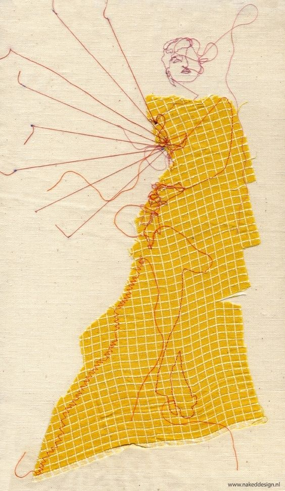 Fashion stitch sketch by Marloes Duyker #art #creativeprocess
