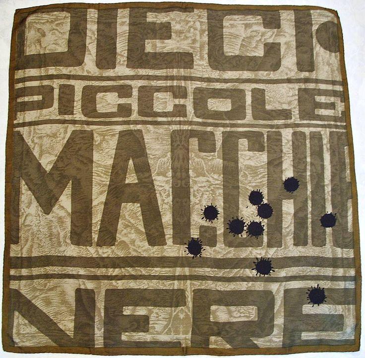 """Italy Vintage Dieci Piccoli Macchie Nere Poster Art Silk 30"""" Square Scarf   eBay"""