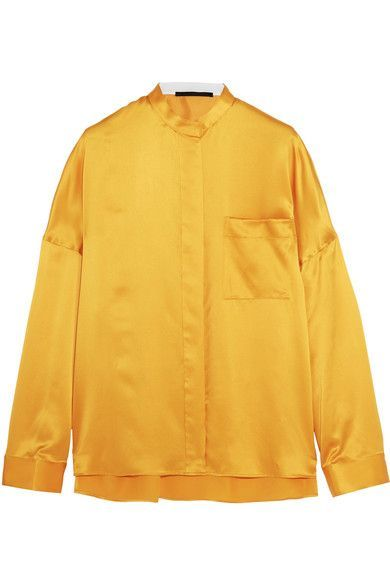 Haider Ackermann - Oversized Silk-satin Shirt - Marigold