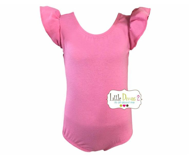 PRINCESS PINK LEOTARD (Child) Flutter/Ruffle Sleeve