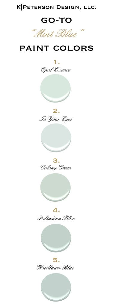 Blue paint colors - Benjamin Moore