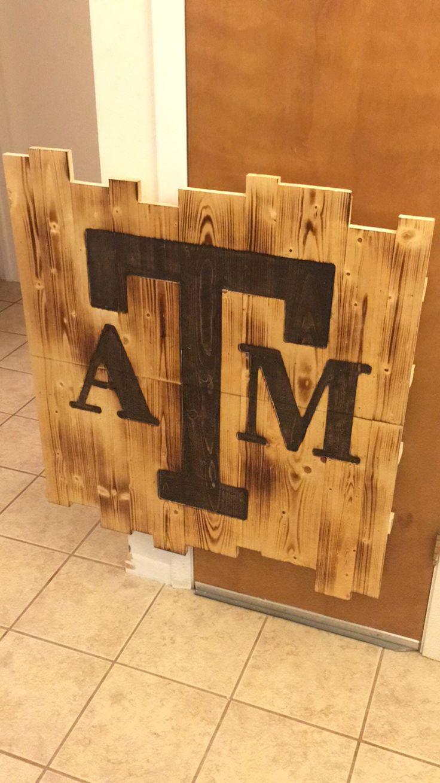 A&M sign handmade