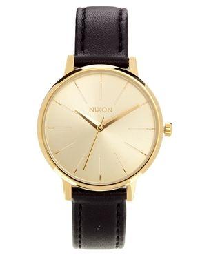 Image 1 ofNixon Kensington Black Leather Watch