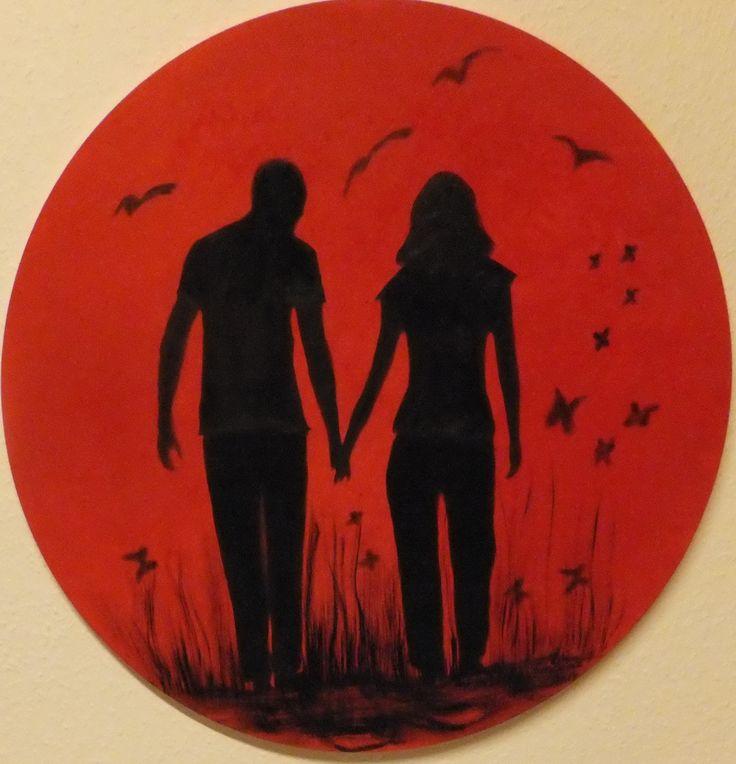 """""""Liebe"""" - Ölbild 70 cm"""