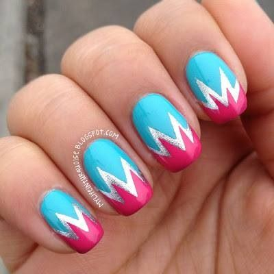 Bold Zig zag nail design | Nails to do | Pinterest