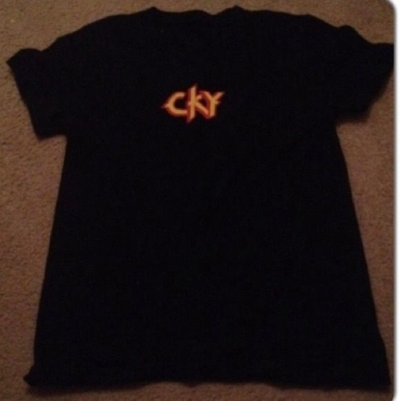 Black fitted CKY band tee Size medium black gently worn in good condition Tops