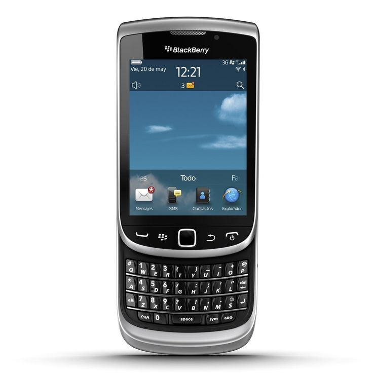 Blackberry Torch 9810 Unlocked GSM 4G LTE OS 7.0 Slider Cell Phone - Zinc