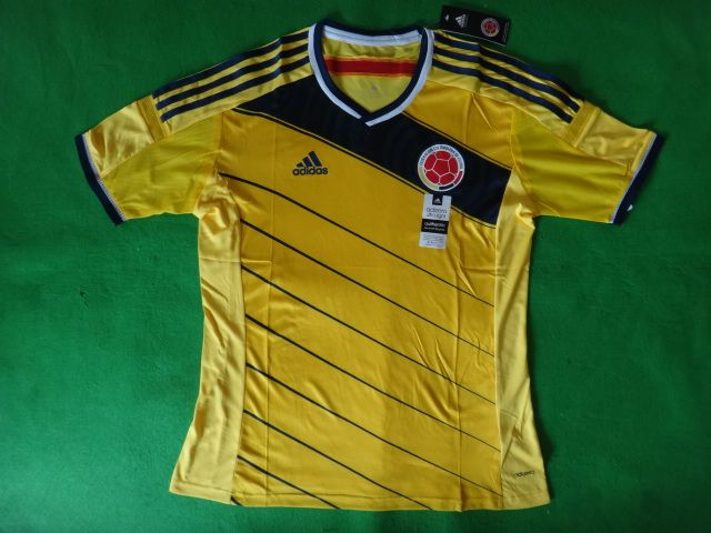 2014 World Cup Colombia home jersey http://v.yupoo.com/photos/greenbowfootball/albums/11100658/