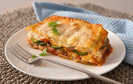 Mushroom and Zucchini Lasagna