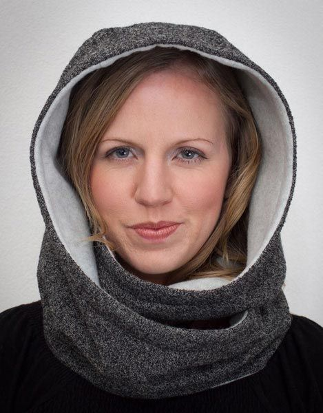 Hooded Infinity Scarf Sewing Pattern - Infinity Scarf Pattern
