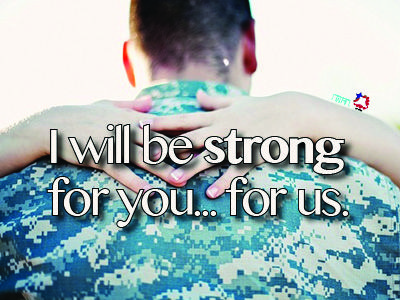 I will be strong for us