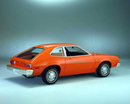 Ford Pinto: The original car bomb. Lol! We had the wagon.  Drove my son around in it, laying in the back end with the seat down, to get him asleep after he had his vaccinations.