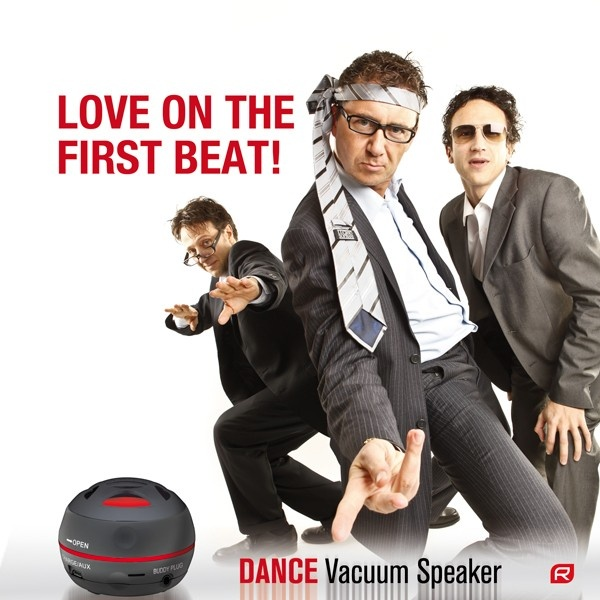 RAIKKO® DANCE DOUBLE / stereo Vacuum Speaker - schwarz Mobile!Sound