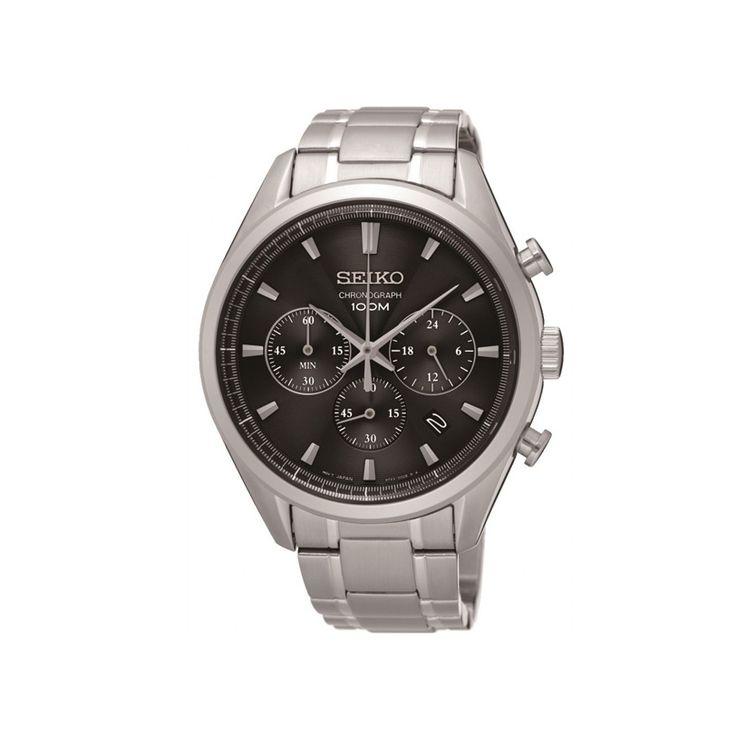 Ανδρικό ρολόι SEIKO SSB225P1 Automatic με μαύρο καντράν, χρονογράφος, ημερομηνία 24ωρη ένδειξη και ατσάλινο μπρασελέ | ΤΣΑΛΔΑΡΗΣ στο Χαλάνδρι #seiko #automatic #μαυρο #χρονογραφος #μπρασελε #tsaldaris