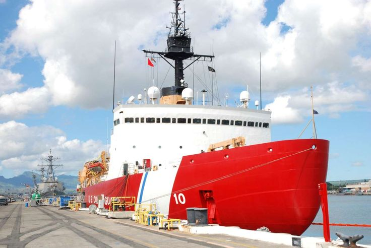 To fund border wall, Trump administration weighs cuts to Coast Guard, airport security  -  March 7, 2017:        Image:        The Coast Guard cutter Polar Star rests by a dock in Pearl Harbor, Hawaii, on Dec. 12.