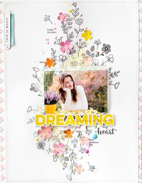 Springtime layouts with Bea Valint – Pinkfresh Studio