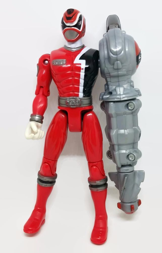 2004 Power Ranger Bandai Red Cyber Arm S.P.D. Action Figure Toy Doll #Bandai
