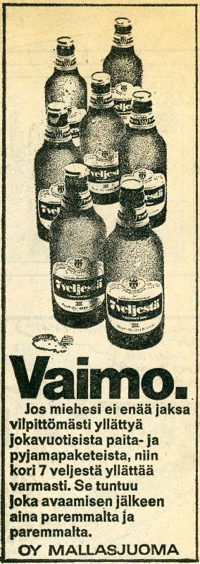 #joulumainokset #vaimot #olut #beer #Mallasjuoma #vanhatmainokset