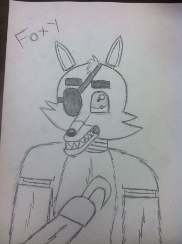 Foxy from FNAF By:DerickPaws