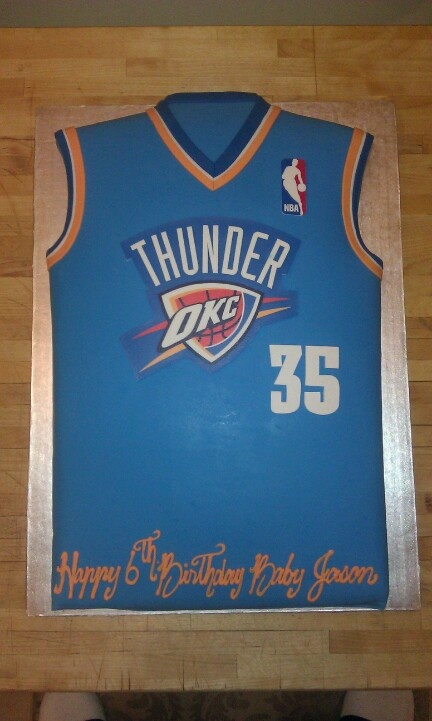 OKC Kevin Durant Jersey Cake