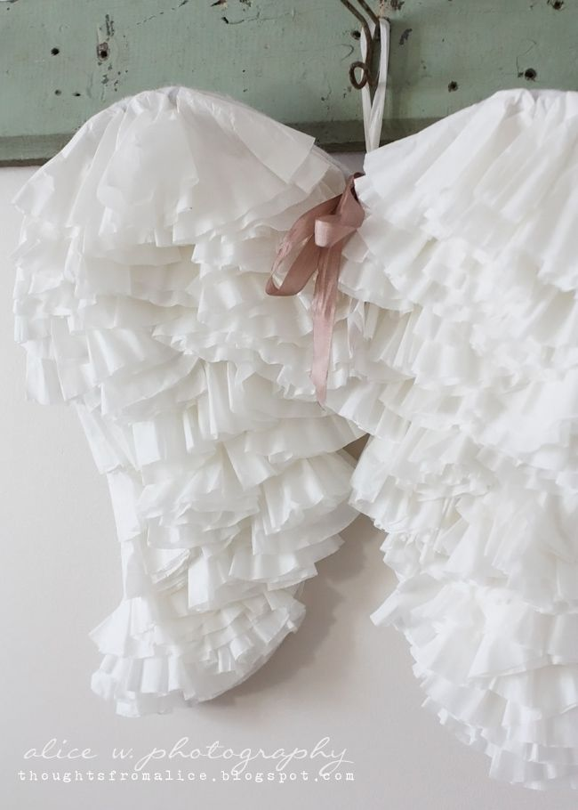 DIY Coffee Filter Angel Wings | IF I WAS CRAFTY ...
