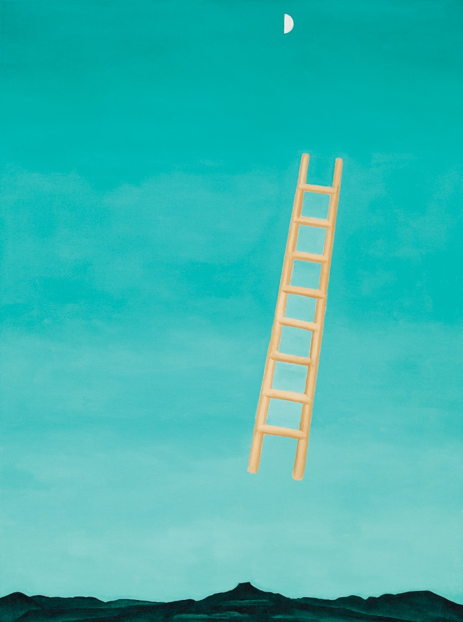 Georgia O'Keefe, Ladder to the Moon, 1958. This painting ...