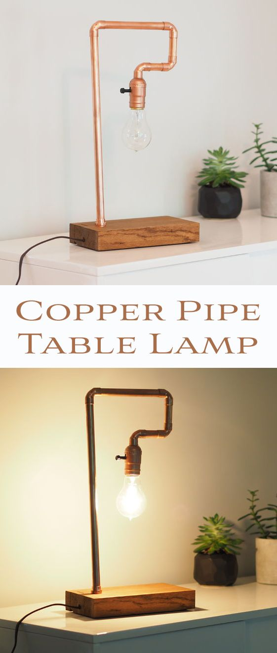 What's not to love about a copper pipe lamp? It's modern, yet industrial, and oh so easy to do-it-yourself.