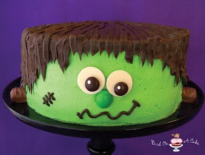 Frankenstein's Monster Cake from Bird On A Cake ~ Awesome blog!