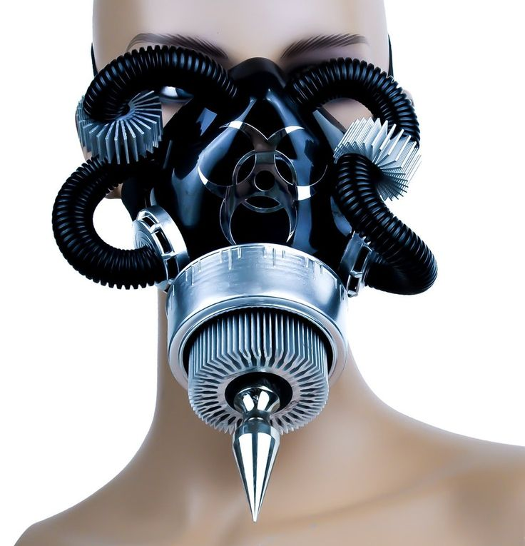 124 best cool gas masks images on pinterest gas masks cybergoth aluminum turbine gas mask single respirator spike bio hazard voltagebd Image collections