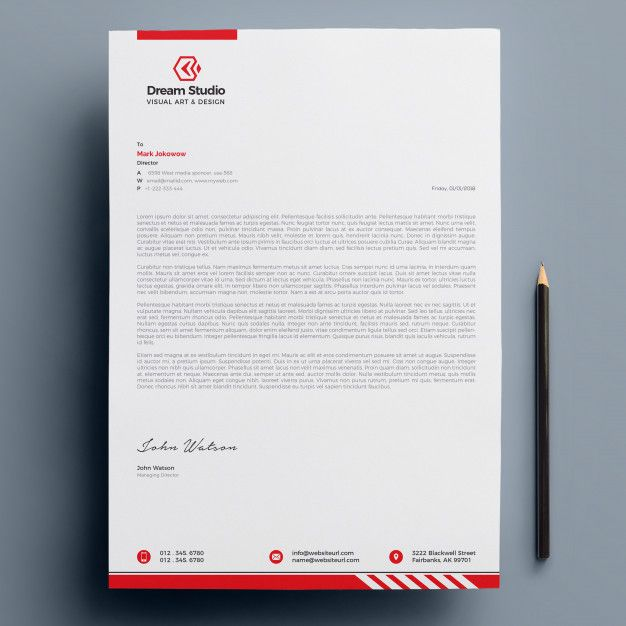 Letterhead Template Free Download #letterhead #design #business #template #illus...