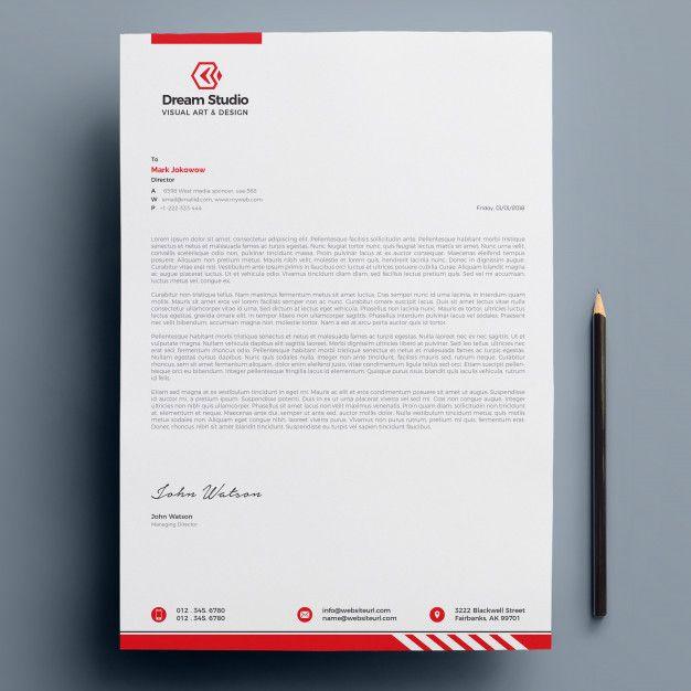 Modern Company Letterhead Company Letterhead Letterhead Business