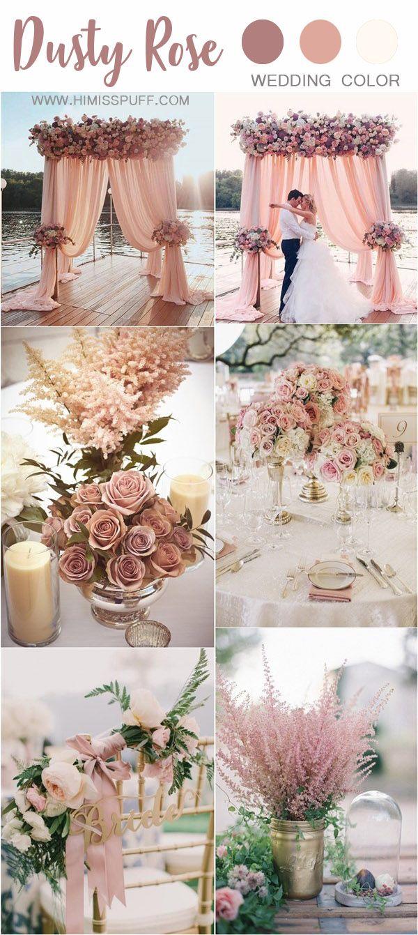 30+ trendy dusty rose wedding color ideas | pink wedding