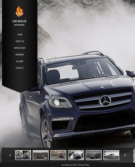 Template 42742 - Car Rental Facebook HTML CMS Template