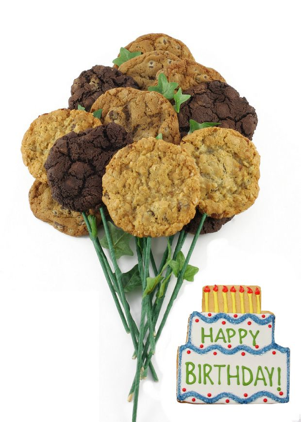 Cookie Delivery.ca Toronto | Long Stem Bouquet | Happy Birthday Bouquet