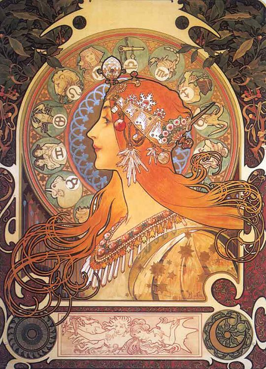Alphonse Mucha (1860 - 1939) designs and posters